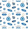 turkish blue eye shaped amulets talismans pattern vector image vector image