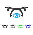 Video spy drone flat icon vector image