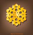 Vintage Christmas postcard with origami snowflake vector image vector image