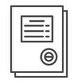 work paper icon outline style vector image