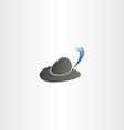 hat with feather logo icon vector image