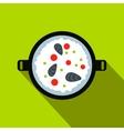 Paella icon flat style vector image