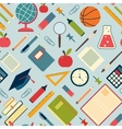 School tools and supplies on a blue background vector image