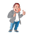 a happy man giving thumbs up gesture vector image