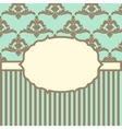 with baroque ornaments in Victorian style vector image