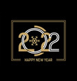 2022 happy new year gold striped symbols design vector image