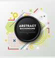 abstract background in trendy linear style vector image