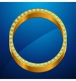 Abstract background with gold ring and jewels vector image