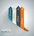 Abstract paper cut arrow background Can be used vector image vector image