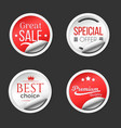 best premium sale paper stickers collection vector image