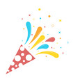 birthday exploding party with stars vector image vector image