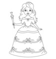 Black and White Princess vector image vector image