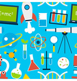 Blue Seamless Pattern Science Education vector image