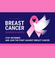 breast cancer awareness month october conceptual vector image vector image