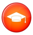 Cap student icon flat style vector image vector image