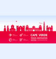 cape verde travel destination vector image vector image