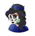 catrina day of the dead symbol of mexico vector image vector image