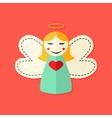 Christmas Angel Flat Icon vector image