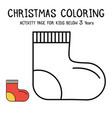 christmas coloring actvity book for kids below 3 vector image vector image