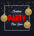 christmas party banner vector image vector image