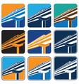 city train vector image vector image