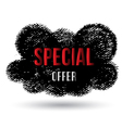 Cloud black special offer vector image vector image