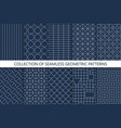 collection seamless geometric patterns vector image vector image