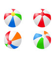 color beach balls icon vector image vector image