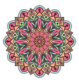 colorful mandala deisgn with warm colors vector image vector image