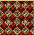 colorful tartan plaid fabric scotland kilt vector image