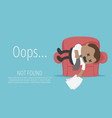 concept business page not found 404 error vector image vector image