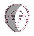 contour man with facial expression design vector image vector image