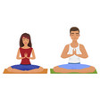 couple yoga man and woman vector image