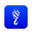 crane hook icon digital blue vector image vector image