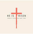 creative easter banner with an abstract red cross vector image vector image