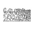 crowd of indian people background vector image