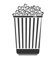 delicious pop corn isolated icon vector image vector image