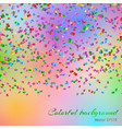 falling confetti background vector image vector image