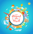 famous signts around world travel concept vector image vector image