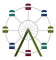 ferris wheel ride vector image