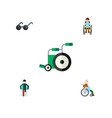 flat icon handicapped set of spectacles disabled vector image vector image