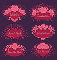 Floral Frame Collection vector image vector image