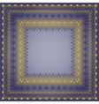 Frame with gold pattern on a blue background vector image vector image