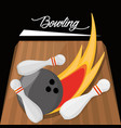 fun bowling sport play game vector image vector image