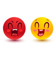 funny and angry smiles vector image