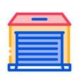 garage icon outline vector image vector image