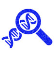genetics grunge icon vector image vector image