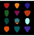 guitar picks different types musical plectrum vector image vector image