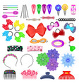 hair accessory kids hairpin or hair-slide vector image vector image
