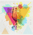 hipster realistic and polygonal cocktail daiquiri vector image vector image